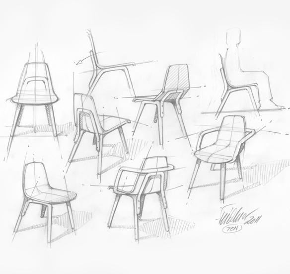 Thomas feichtner tram chair for Stuhl design dwg